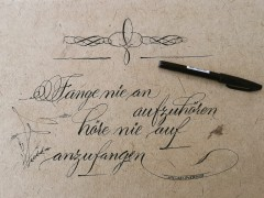Kalligrafie: Englische Schreibschrift (Spencerian)